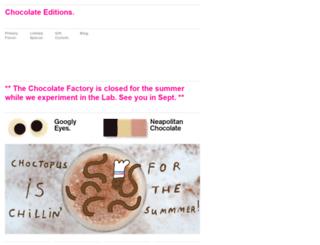 chocolate-editions.com screenshot