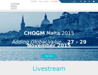 chogm2015.mt screenshot