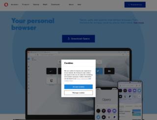 choice.opera.com screenshot