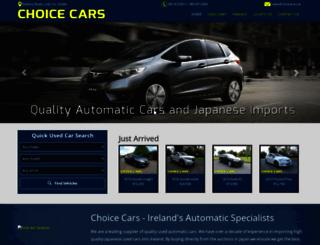 choicecars.ie screenshot