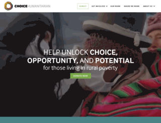 choicehumanitarian.org screenshot