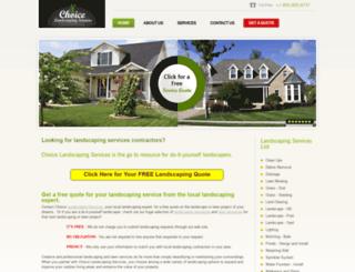 choicelandscapingservices.com screenshot
