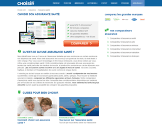 choisirsamutuelle.com screenshot