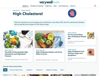 cholesterol.about.com screenshot