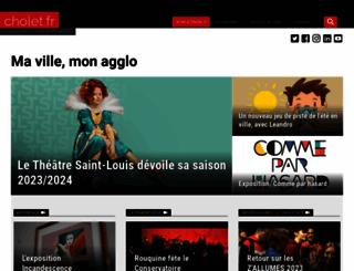cholet.fr screenshot