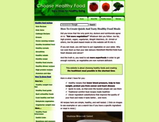 choose-healthy-food.com screenshot