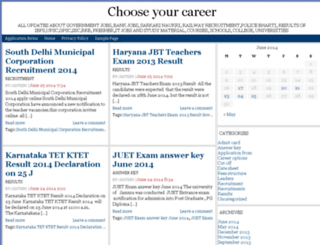 chooseyourcareer.co.in screenshot