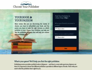 chooseyourpublisher.com screenshot