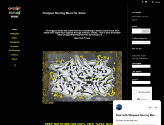 choppedherringrecords.com screenshot