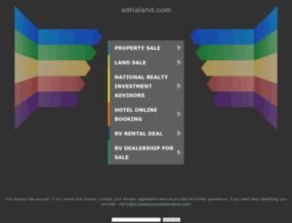 chorvatsko.adrialand.com screenshot