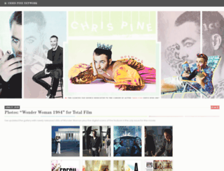chris-pine.org screenshot