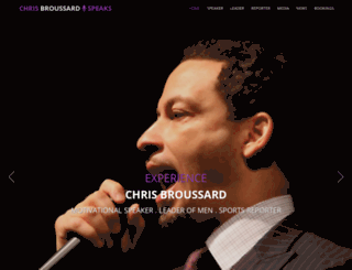 chrisbroussardspeaks.com screenshot