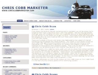 chriscobbmarketer.com screenshot