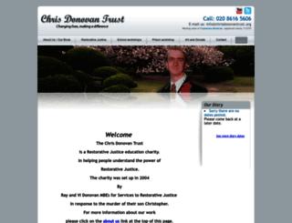 chrisdonovantrust.org screenshot