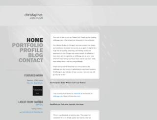 chrisfay.net screenshot