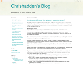 chrishadden.blogspot.com screenshot