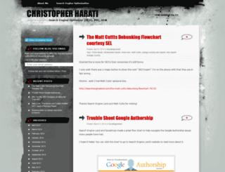 chrisharati.wordpress.com screenshot