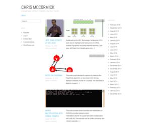 chrisjmccormick.wordpress.com screenshot