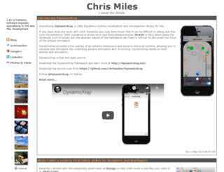 chrismiles.info screenshot