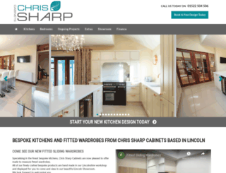 chrissharpcabinets.co.uk screenshot