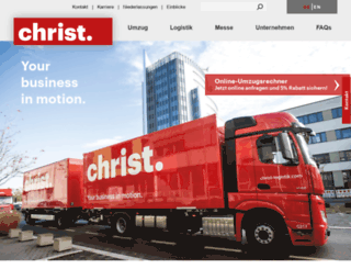 christ-umzuege.de screenshot