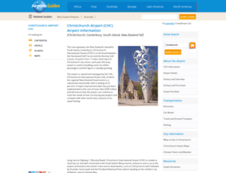 christchurch-chc.airports-guides.com screenshot