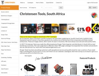 christensen.co.za screenshot