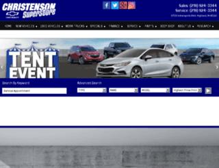 christensonchevy.com screenshot
