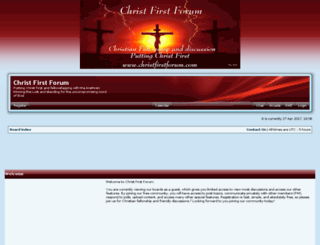 christfirstforum.com screenshot