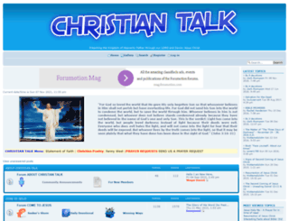 christian-talk.forumotion.com screenshot