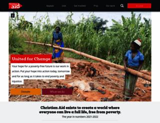 christianaid.org.uk screenshot