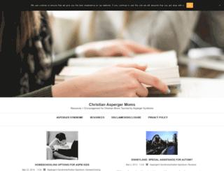 christianaspergermoms.com screenshot