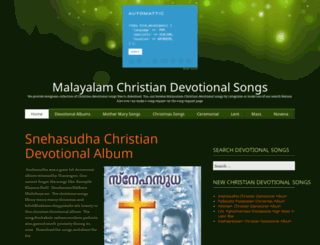 christiandevotionalsongs.in screenshot
