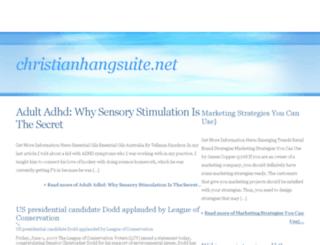christianhangsuite.net screenshot