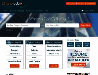 christianjobs.com screenshot