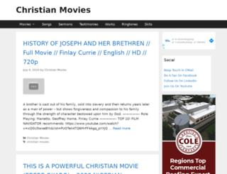 christianmovies.christianportal.in screenshot