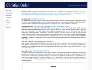 christianorder.com screenshot