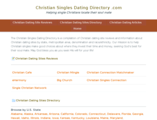 christiansinglesdatingdirectory.com screenshot