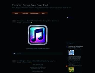 christiansongsfreedownload.blogspot.com screenshot
