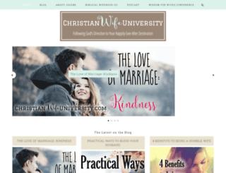 christianwifeuniversity.com screenshot