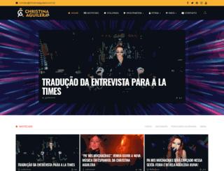christinaaguilera.com.br screenshot