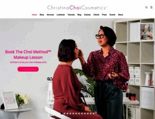 christinachoicosmetics.com screenshot