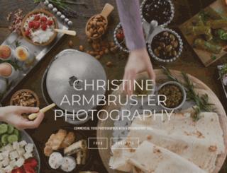 christinearmbruster.com screenshot