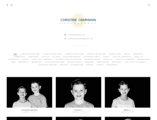 christinedammann.pixieset.com screenshot