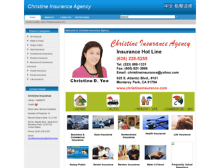 christineinsurance.com screenshot
