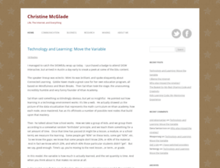 christinemcglade.com screenshot