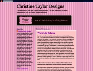 christinetaylordesigns.blogspot.com screenshot