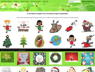 christmas-clipart.com screenshot