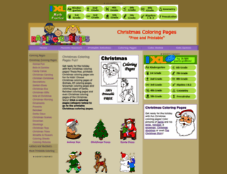 christmas-coloring.com screenshot