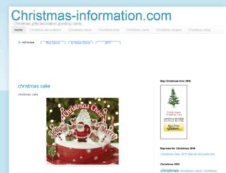 christmas-information.com screenshot